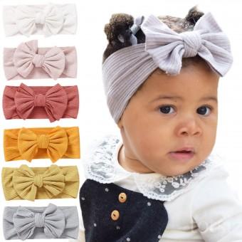 Baby Bows Baby Girl Headband Baby Headband Baby Girl Headwrap Polka Dot Baby Headwrap Baby Turban Headband Ribbed Knit Strawberry