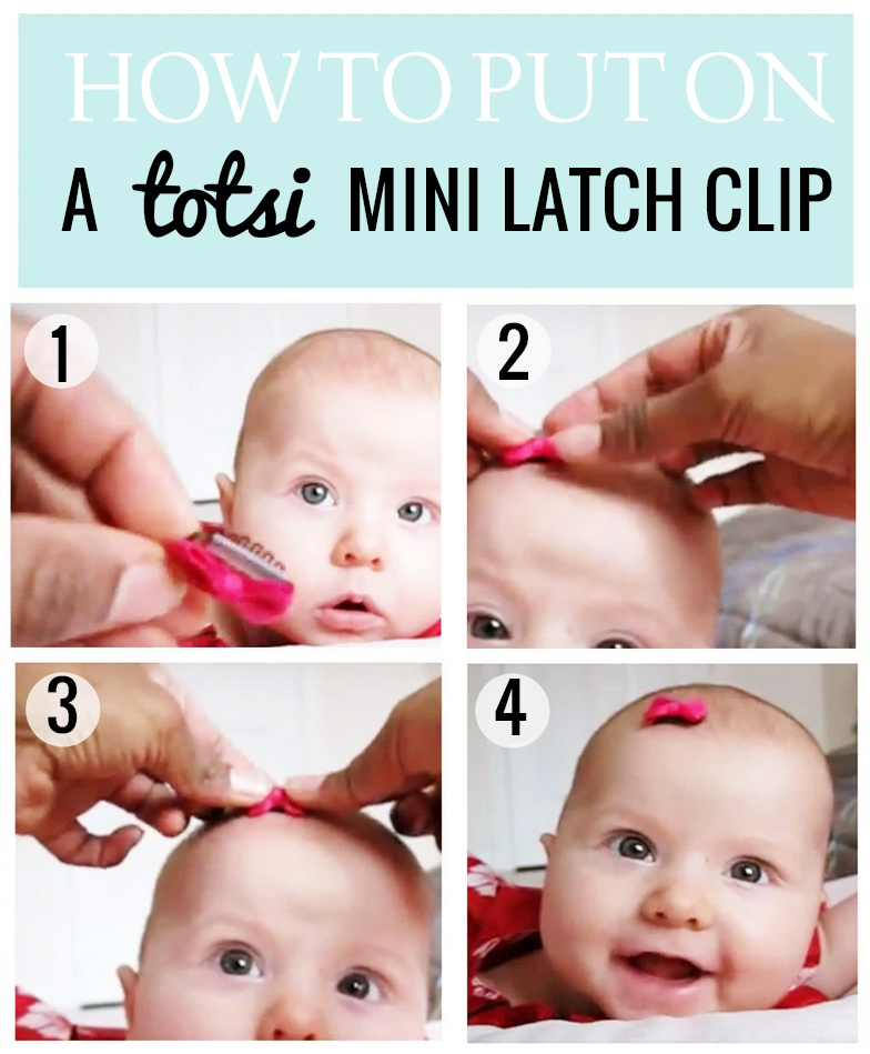how to put on newborn baby hair clip