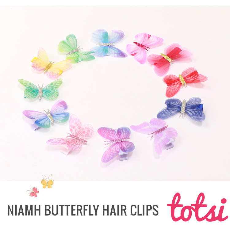 butterfly baby hair clips