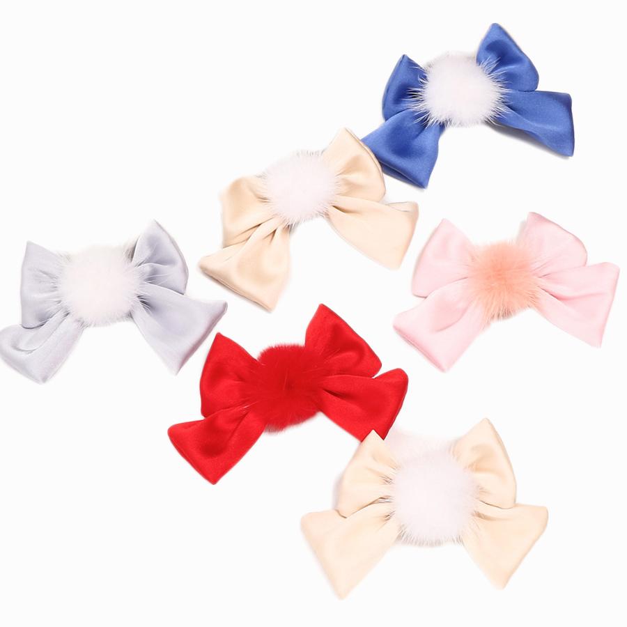 pom pom baby hair clips
